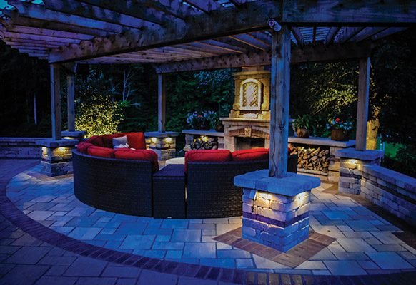 Special Projects: Lighting, Franco Landscaping, Project: Private Residence, Columbus