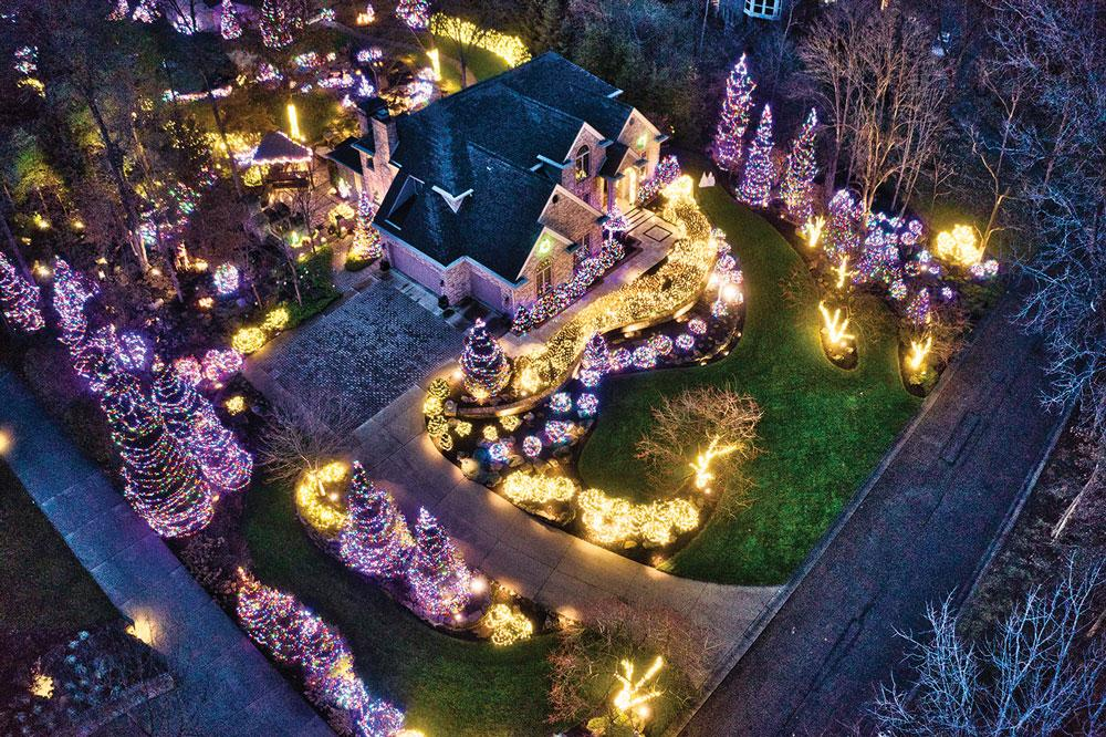 Wasson Nursery</br>Category: Lighting / Holiday</br>Project: Private Residence, Muncie