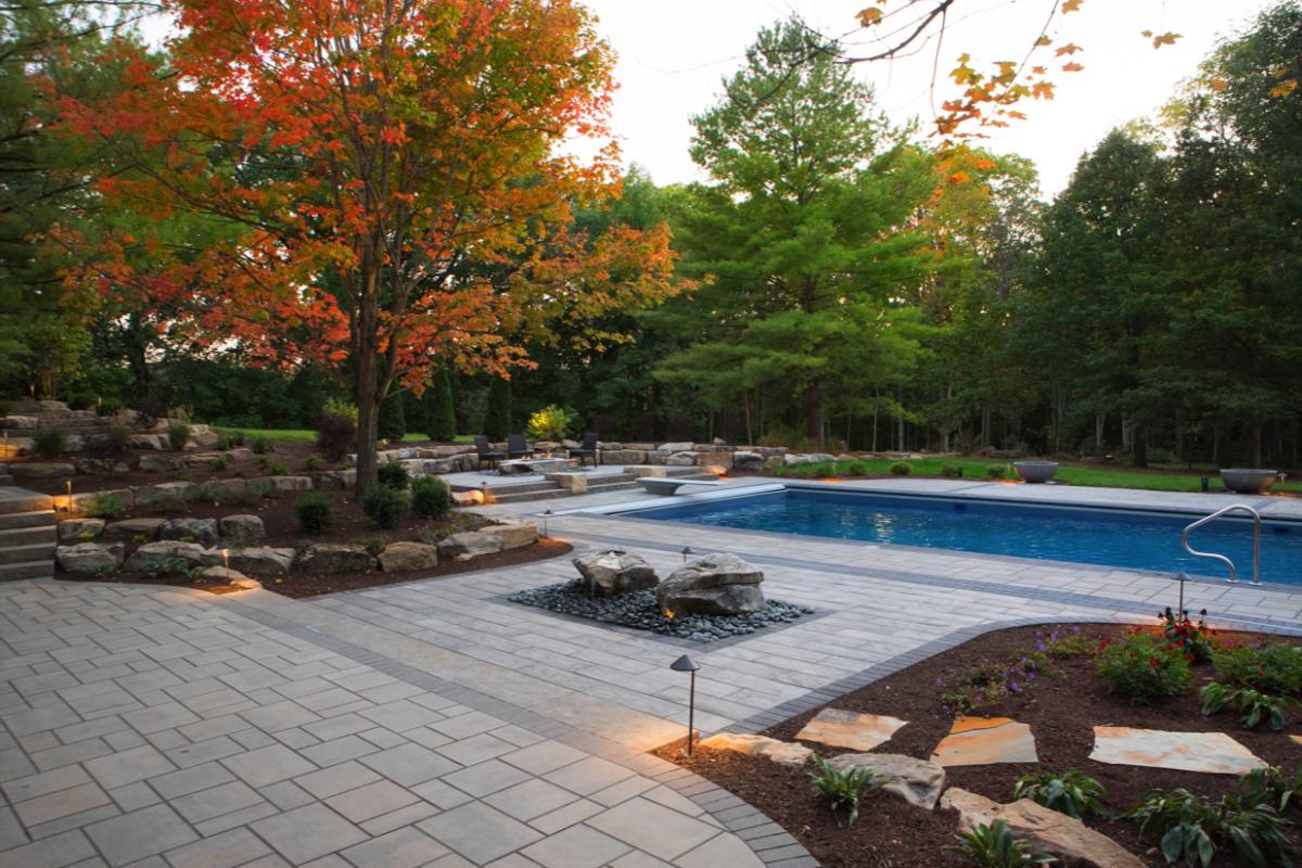 Calvin Landscape LLC</br>Category: Residential Landscape Design Build Over $50,000</br>Project: Private Residence, Zionsville